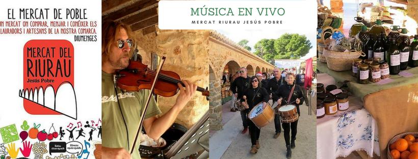 Marché Riu Rau de Jesús Pobre avec music et produits autochtones